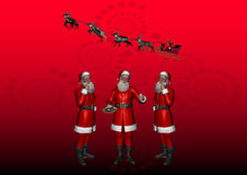 Multiple Santa 6 Royalty Free Stock Photos