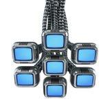 Multiple sci-fi monitors. Multiple sci-fi tv monitors 3d render Stock Photography