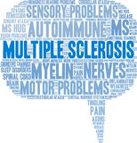 Multiple Sclerosis Word Cloud. On a white background Stock Images