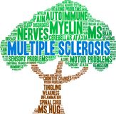 Multiple Sclerosis Word Cloud royalty free illustration