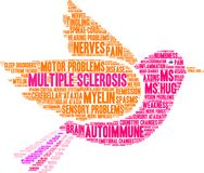 Multiple Sclerosis Word Cloud. On a white background Royalty Free Stock Images