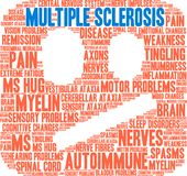 Multiple Sclerosis Word Cloud. On a white background Royalty Free Stock Photo