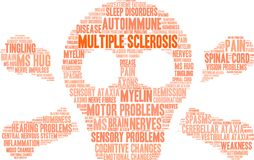 Multiple Sclerosis Word Cloud. On a white background Stock Photo