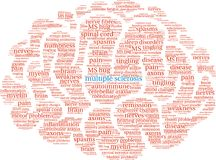 Multiple Sclerosis Word Cloud. On a white background Stock Photos