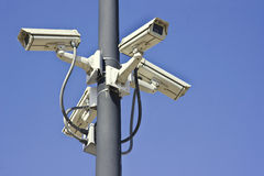 Multiple Security Cameras Stock Images