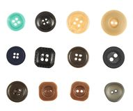 Multiple sew-through buttons isolated Royalty Free Stock Photography