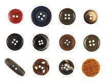 Multiple sew-through buttons isolated Stock Photo