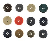 Multiple sew-through buttons isolated Stock Images