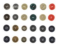 Multiple sew-through buttons isolated Royalty Free Stock Photo
