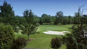 Multiple shots of a beautiful golf course in pennsylvania. Video of multiple shots of a beautiful golf course in pennsylvania stock video
