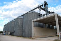 Multiple silos Royalty Free Stock Images