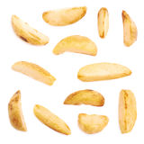Multiple single oven baked fries chips royalty free stock images