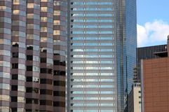 Multiple skyscrapers reflecting in the sun Royalty Free Stock Photo