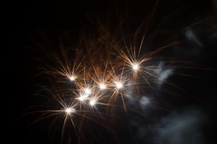 Small multiple fireworks Royalty Free Stock Image