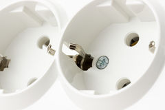 Multiple socket Isolated on the white background Stock Photo