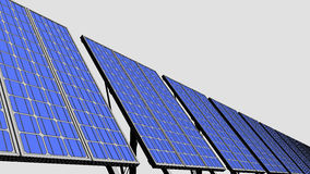 Multiple solar panels, sketch version for presentations and reports. 3D rendering Stock Photo