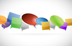 Multiple speech message bubbles illustration Stock Photography