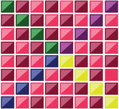 Multiple square colorful tiles vector illustration