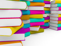 Multiple stack of colorful books Stock Photos