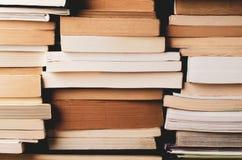 Multiple Stacks of Books Background Stock Photo