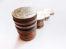 Multiple stacks of coins Royalty Free Stock Photography