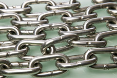 Multiple strands of chrome chain Royalty Free Stock Image