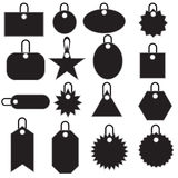 Multiple Tag Icons - black Royalty Free Stock Photography