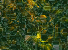 Multiple tech futuristic abstract backgrounds Stock Photos