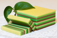 Multiple thin layers cake Stock Image