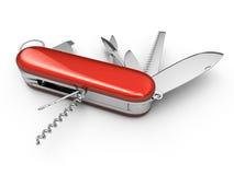Multiple tool folding knife stock illustration