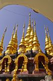 Multiple tops of golden pagoda Stock Images