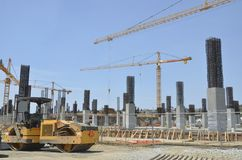 Construction with Multiple Tower Cranes  Stock Photos
