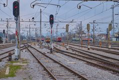 Tracks in Station stock photos