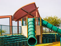Multiple Tube Slides At Kids Park Stock Photo