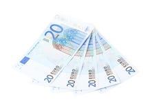 Multiple twenty euro bank notes Royalty Free Stock Photos