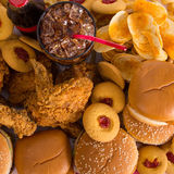 Multiple type of Fast food Stock Images