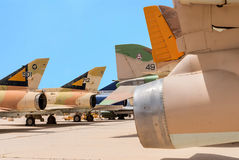 Multiple types of military jets Royalty Free Stock Photography