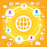 Multiple User Network Stock Image