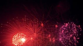 Multiple vivid fireworks. Multiple fireworks. Christmas celebration salute 4K