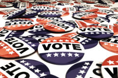 Multiple vote pins Royalty Free Stock Image