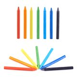 Multiple wax crayons set Royalty Free Stock Photo