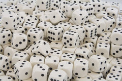Multiple White dice with Black spots Royalty Free Stock Photos