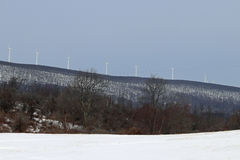 Multiple wind turbines Stock Photos