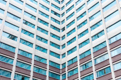 Multiple windows on a large office building Royalty Free Stock Photos