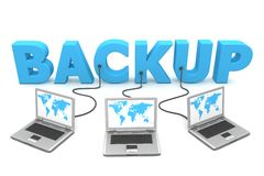 Multiple Wired to Backup Royalty Free Stock Image