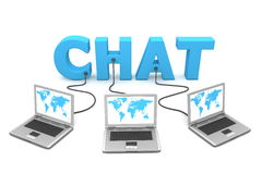 Multiple Wired to Chat Royalty Free Stock Image