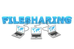Multiple Wired to Filesharing Stock Photo