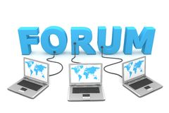 Multiple Wired to Forum Stock Image