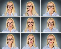 Multiple woman expression Royalty Free Stock Photography