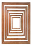 Multiple wooden photo frames. Isolated on white and forming a tunnel (with empty space in the center for your text, photo or picture Royalty Free Stock Photography